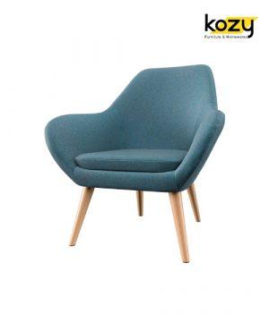 Ghế sofa đơn màu xanh phong cách tối giản tối