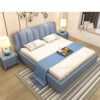 Giường ngủ bọc da thiết kế hiện đại LUX X2