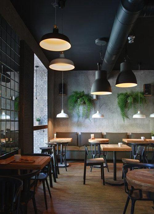 Các mẫu bàn cafe chân sắt mặt gỗ bền đẹp